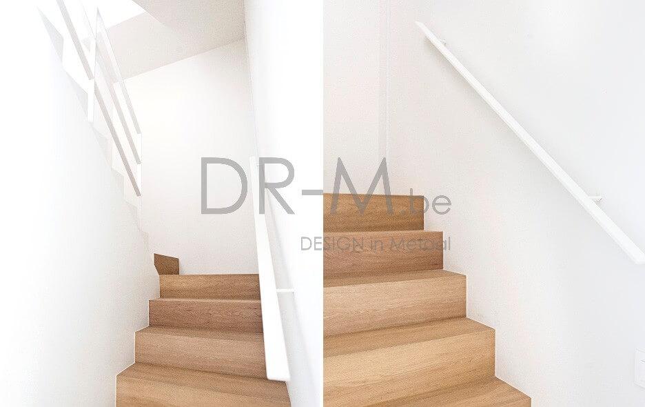 Dr m trappen leuningen smeedwerk - Moderne houten trap ...